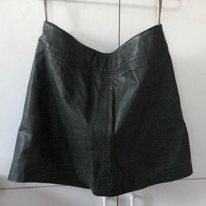 Modern Femme Vegan Leather Mini Skirt
